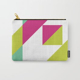 Hot Pink and Neon Chartreuse Color Block Carry-All Pouch
