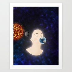 Kissing planets Art Print