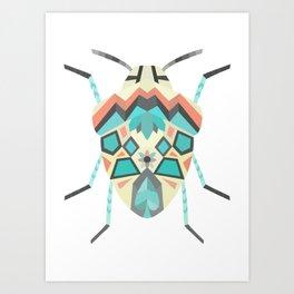 Geometric Picasso Beetle Bug in Digital Art Print