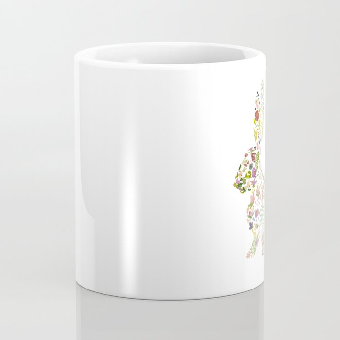 Springtime Flower Bunny Coffee Mug