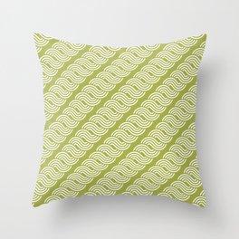 shortwave waves geometric pattern Throw Pillow