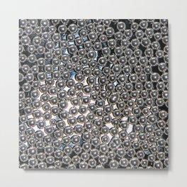 Sugar Pearls Blur – Clock 5 - Living Hell Metal Print