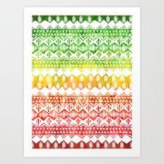 One Love Tribal {white} Art Print