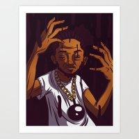 kendrick lamar Art Prints featuring Kendrick Lamar by Theodore Taylor III