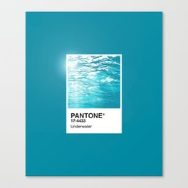 Pantone Series – Underwater Canvas Print