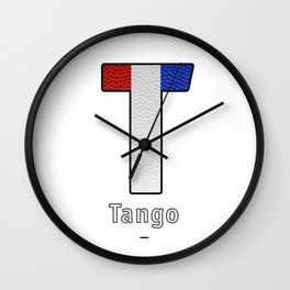 Tango - Navy Code Wall Clock