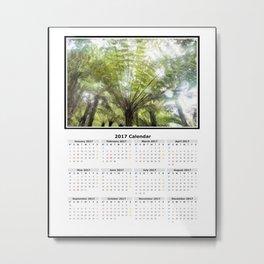 Fern tree, NZ Calendar 2017 Metal Print