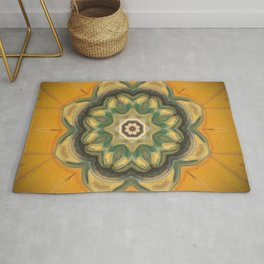 Sunflower // Vibrant Yellow Flower Pattern Healing Energy Mandala Meditation Solar Plexus Chakra Rug