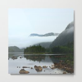 Peaceful Morning on the Lake Metal Print