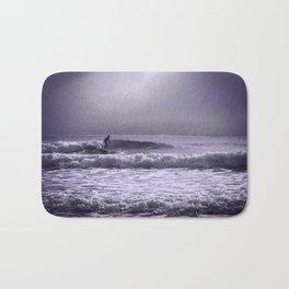 Stormy surfer Bath Mat