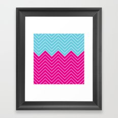 Chevron Mix  Framed Art Print