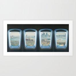 dubai skyline from the porthole Art Print