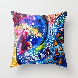 """""""Strange In Space"""" Throw Pillow"""