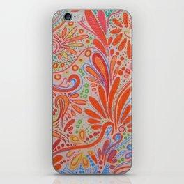 Fall Orange ~Ornate Flowers iPhone Skin