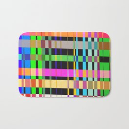 inclined coloured stripes Bath Mat