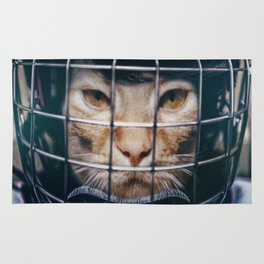 Le hockey cat - 10th life Rug