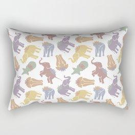 Elephant and Lotus Rectangular Pillow