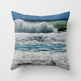 Ocean Waves Seaside Beach Coastal Photography Throw Pillow