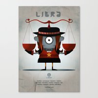 libra Canvas Prints featuring LIBRA by Angelo Cerantola