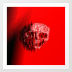 Etched Skull Art Print