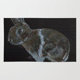 Rescued dwarf rabbit Rug