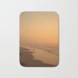 Sunset in the beach in Biarritz Bath Mat
