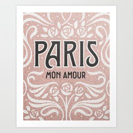 Paris (blush) Art Print