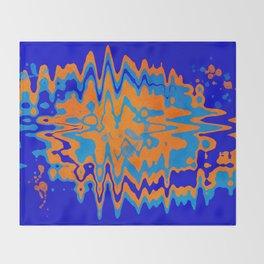 Blue Orange Abstract Throw Blanket