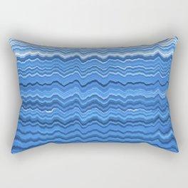 Blue waves pattern Rectangular Pillow
