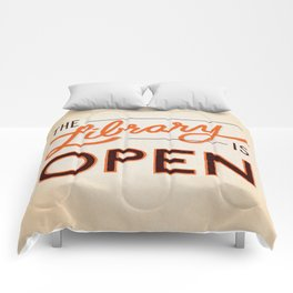 The Library is Open Comforters
