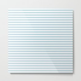 Simple stripes grey. Marine theme Metal Print