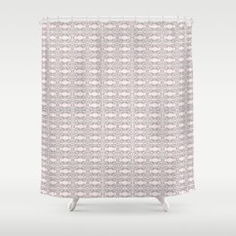 Modern Gray Lace on Pink Pattern Shower Curtain