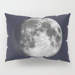 Waxing Gibbous Moon on Navy Pillow Sham
