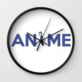 Anime Inspired Shirt Wall Clock