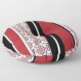 Stripes of Maroon Floor Pillow