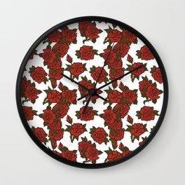 americana: red rose Wall Clock