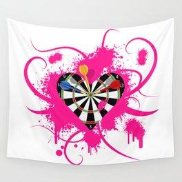 Dartboard Romance Wall Tapestry