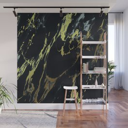 Gold Black Stone Marble Wall Mural