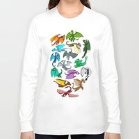 dungeons and dragons Long Sleeve T-shirts featuring Dragons by prpldragon
