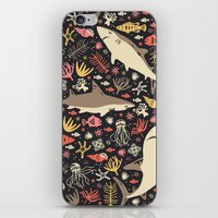 rug iPhone & iPod Skins featuring Oceanica by Anna Deegan