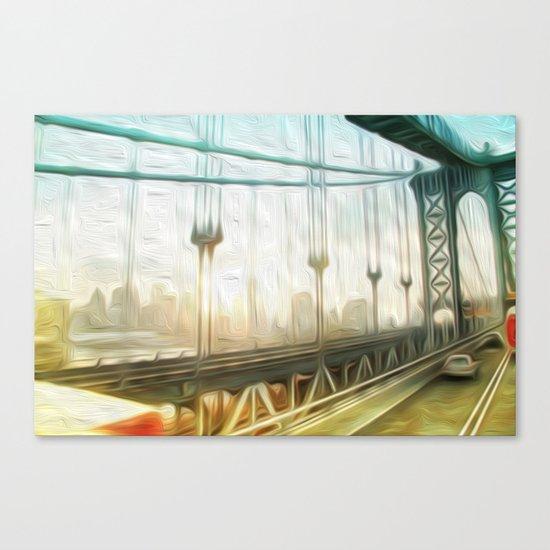 manhattan bridge morning Canvas Print