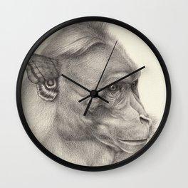 """Bloomers"" series, III (Bonnet macaque) Wall Clock"