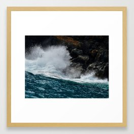 Wave Break Framed Art Print