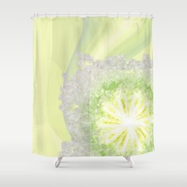 Triptychs Unveiled Flower  ID:16165-114729-45271 Shower Curtain