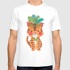 Thomas the Tiger Mens Fitted Tee White MEDIUM