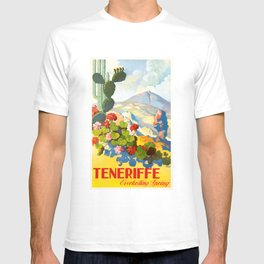 1945 Tenerife Everlasting Spring Spain Travel Poster T-shirt