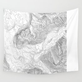 NORTH BEND WA TOPO MAP - LIGHT Wall Tapestry