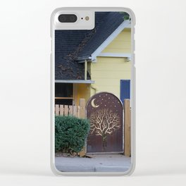 Yellow House with Moon Gate Clear iPhone Case