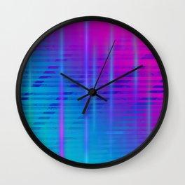 Gradient Light Beams Wall Clock