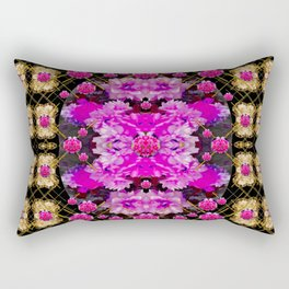 Flowers and gold in fauna decorative style Rectangular Pillow